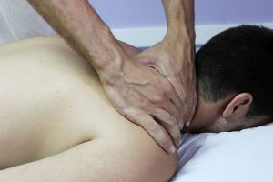 man getting a back treatment
